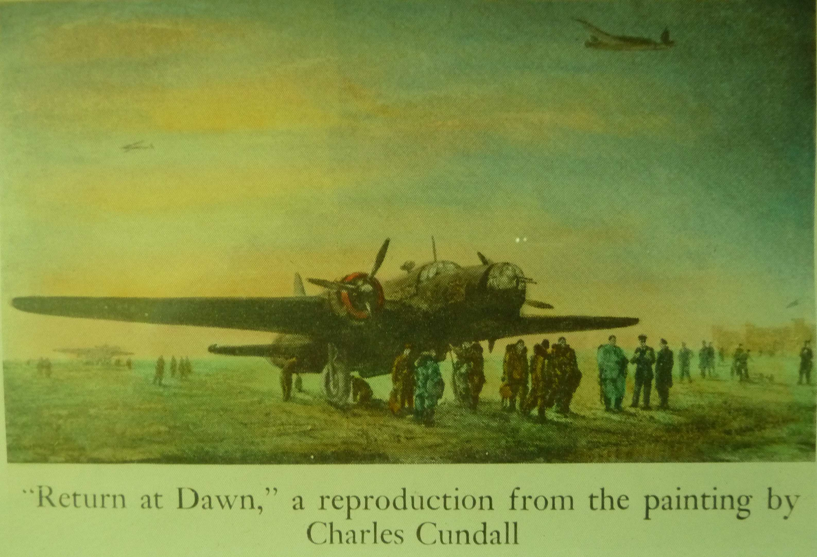 "Favorite AVIATION PRINT of HUBERT BROOKS "" RETURN AT DAWN"""