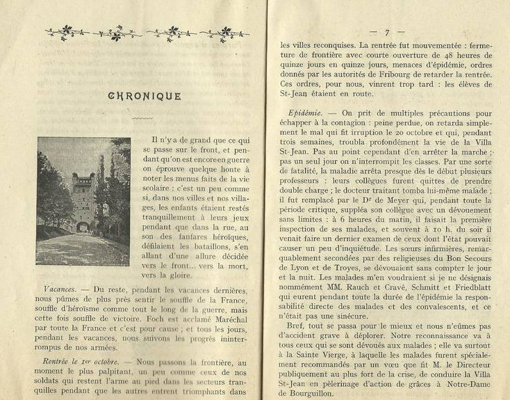 PHOTO La Villa Saint-Jean Extracted Pages 6 and 7 from Yearbook 1918 1919