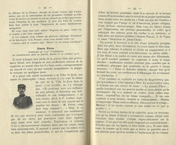 PHOTO La Villa Saint-Jean Extracted Pages 92 and 93 from Yearbook 1918 1919