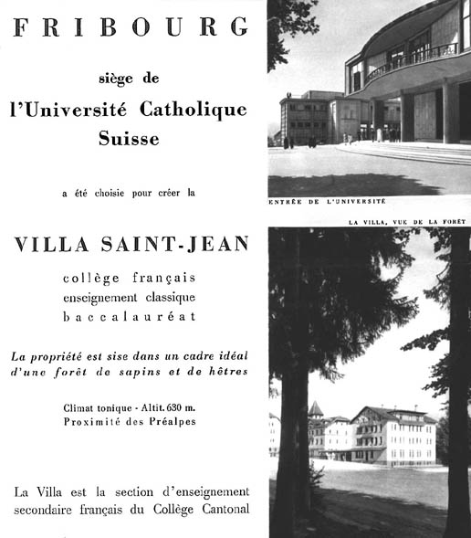 PHOTO Villa St Jean  Collège Français 1960 Advertising Brochure 4