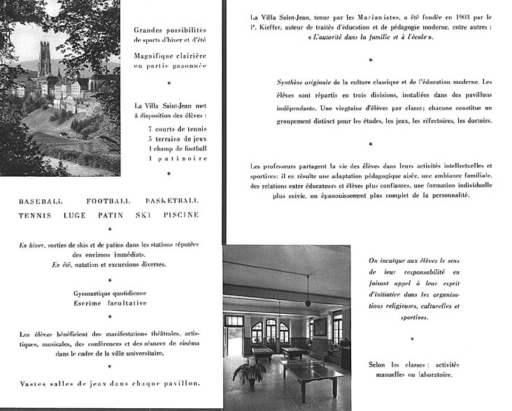 PHOTO Villa St Jean  Collège Français 1960 Advertising Brochure 5