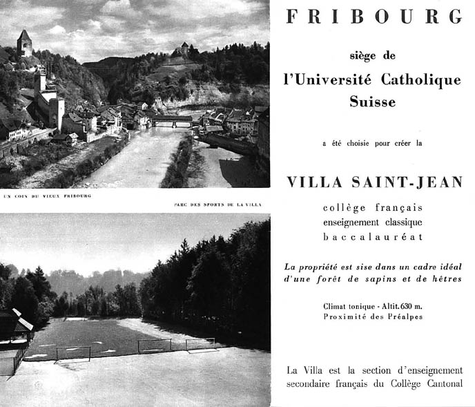 PHOTO Villa St Jean  Collège Français 1960 Advertising Brochure 7