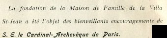 Text Maison_de_Famille supported by Cardinal-Archeveque de Paris