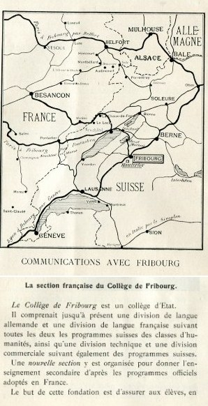 Map to Fribourg