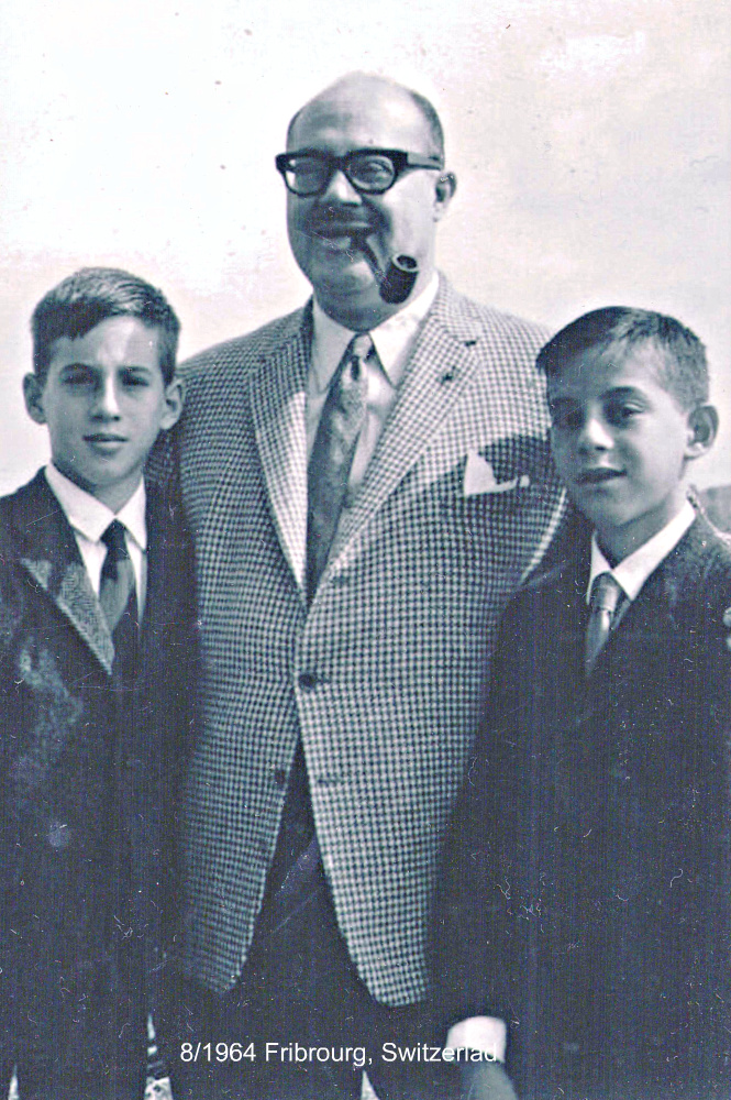 PHOTO Virgil and Horace Sklar (with their father Alfred)  Circa  August 1964
