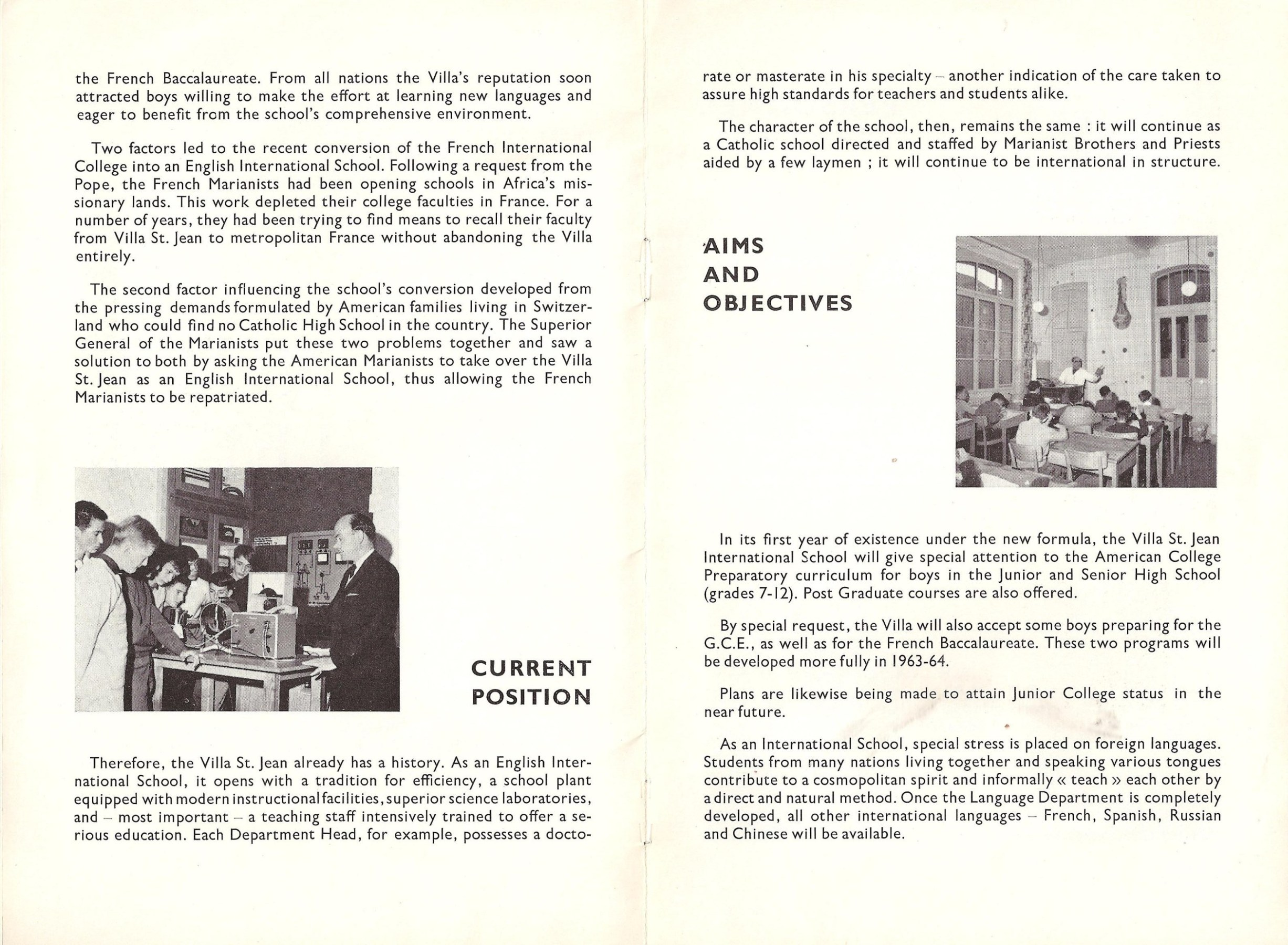 Image: Pages 3 and 4 of Villa Saint Jean November 1962 NEWSLETTER