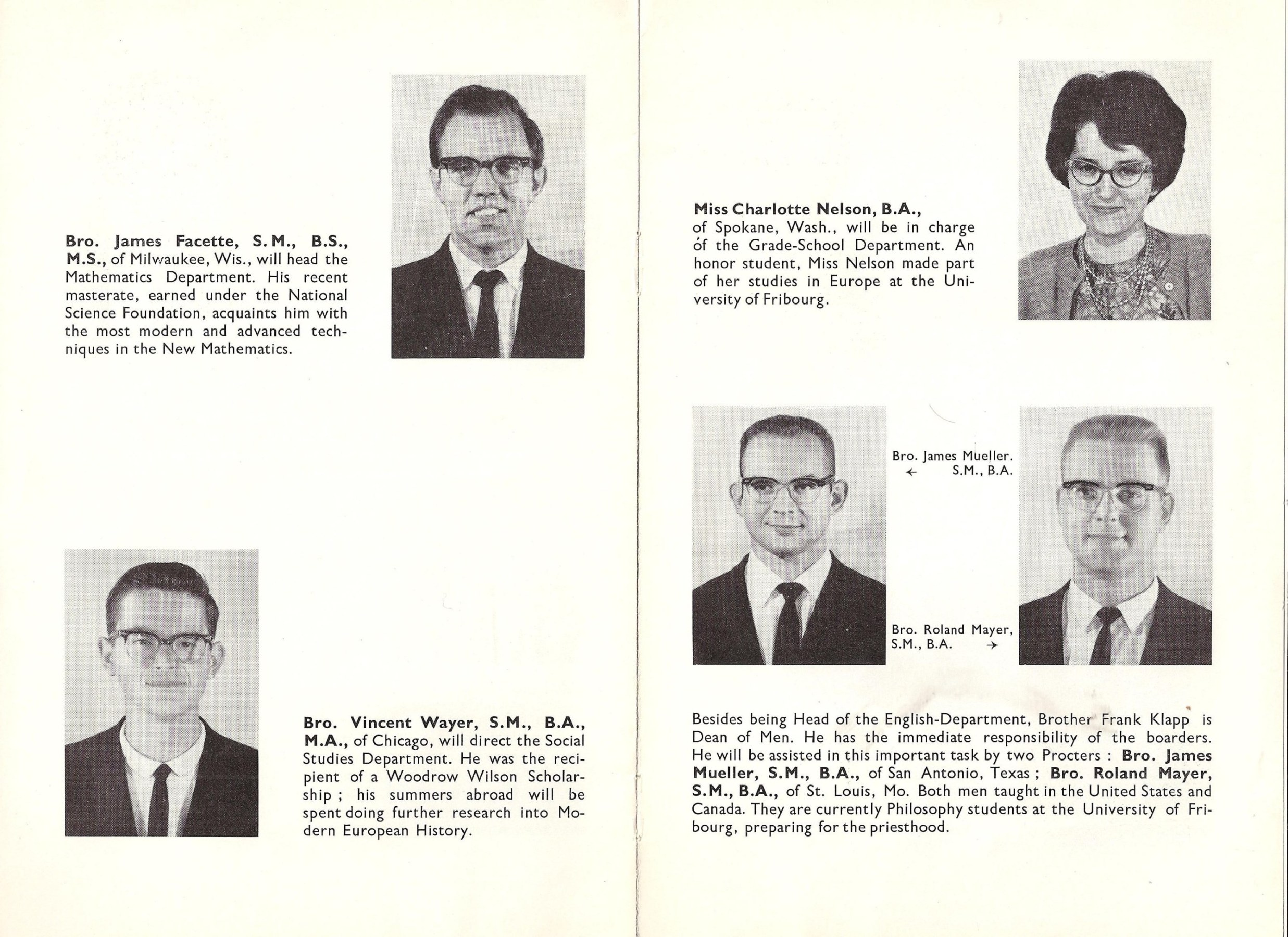 Image: Pages 7 and 8 of Villa Saint Jean November 1962 NEWSLETTER