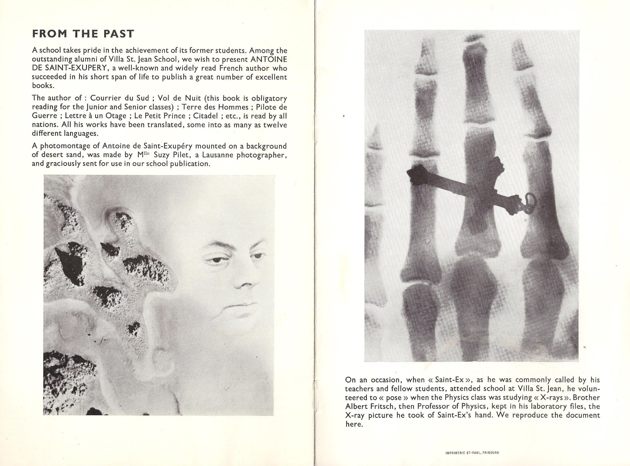 Image: Pages 9 and 10 of Villa Saint Jean November 1962 NEWSLETTER