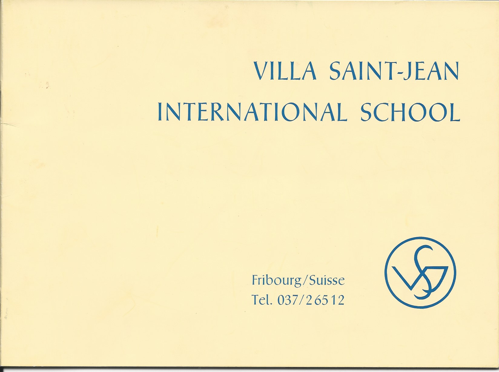 Front Cover of Villa Saint Jean Advertising Pamphlet