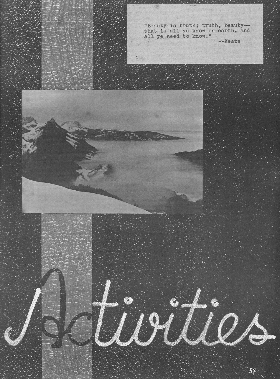 ACTIVITIES Header Page for  Villa Saint Jean International School  1964 Yearbook Le Chamois