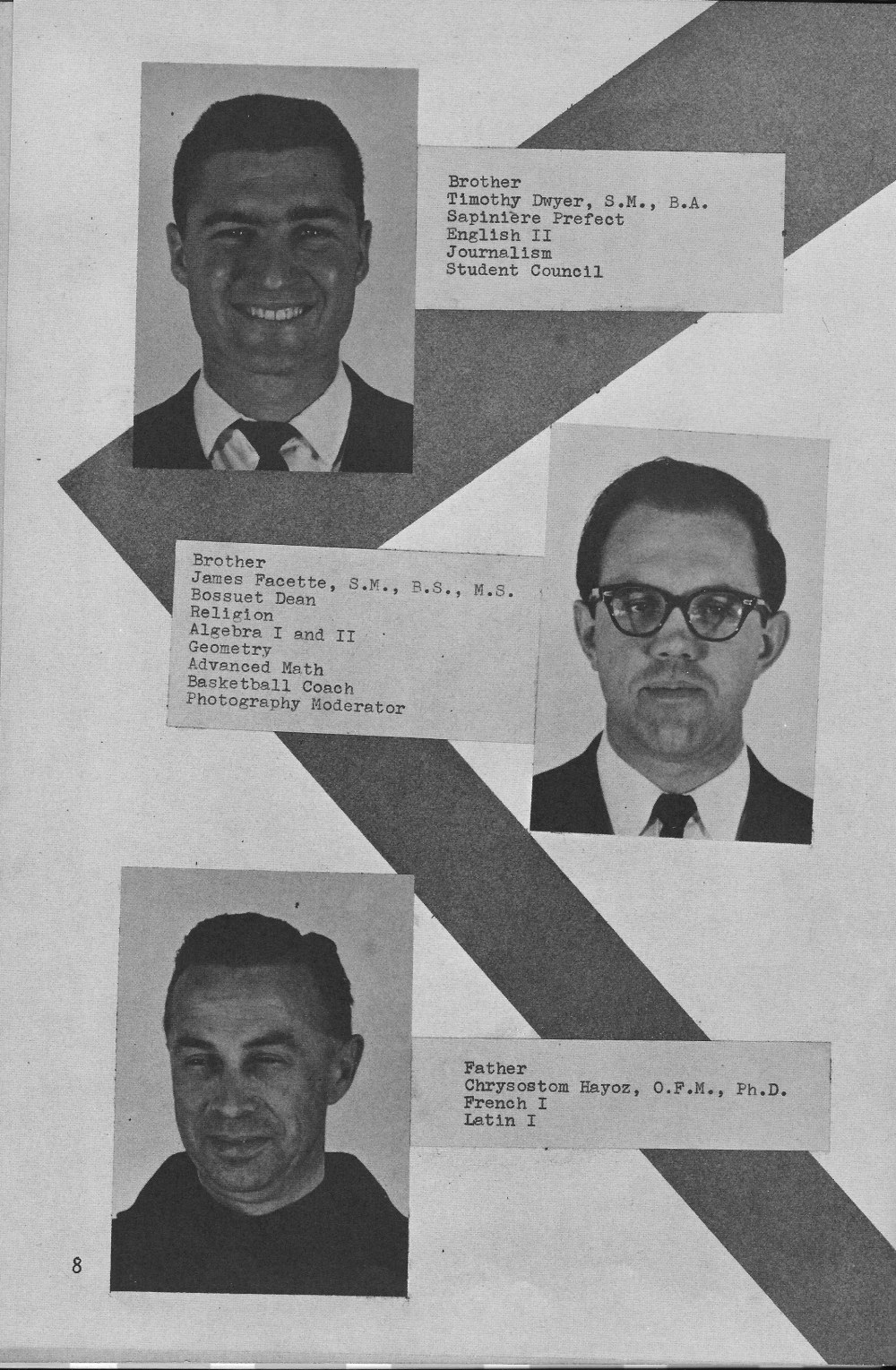 Faculty Page 2 for Villa Saint Jean International School  1964 Yearbook Le Chamois