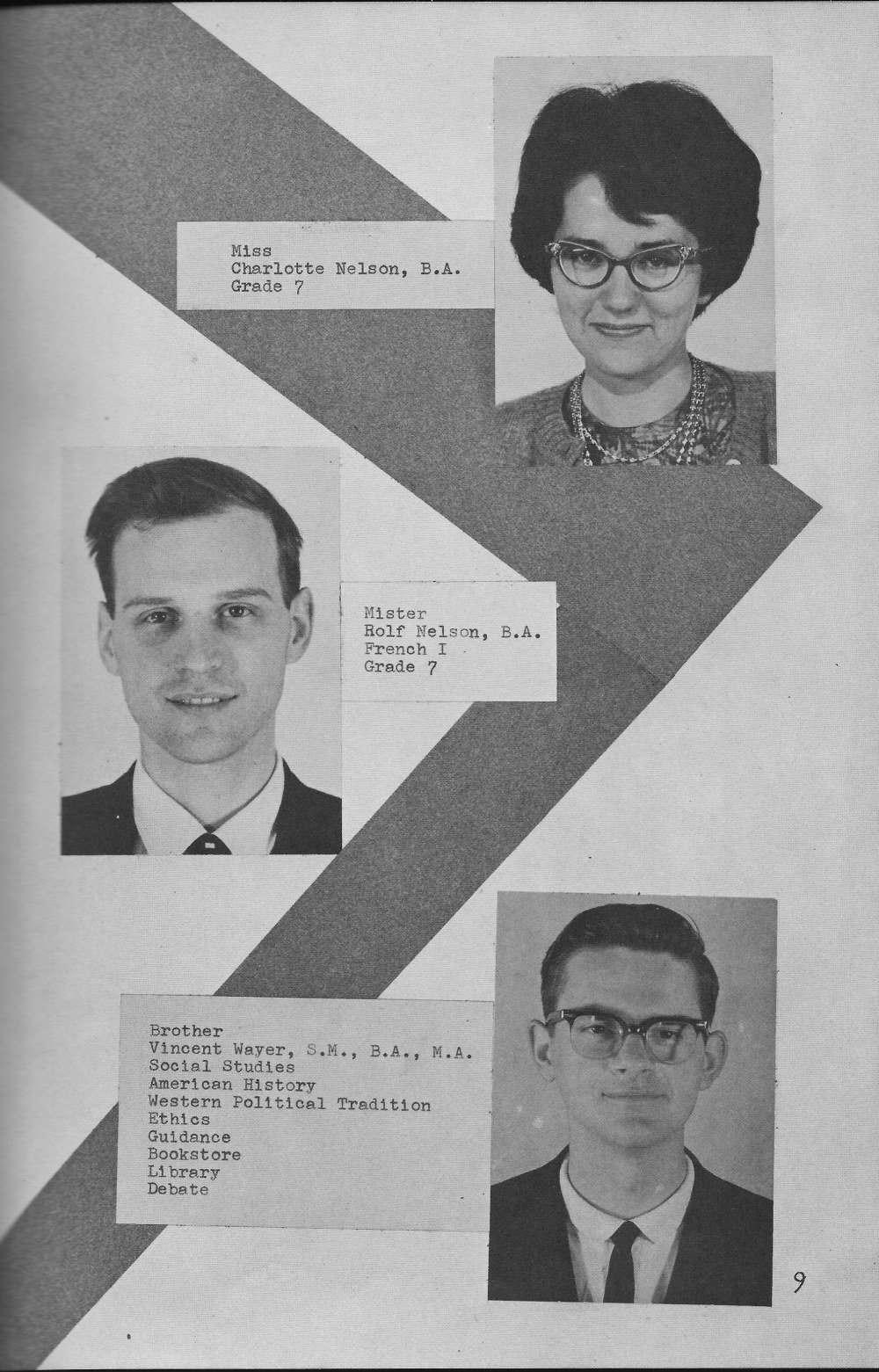 Faculty Page 3 for  Villa Saint Jean International School  1964 Yearbook Le Chamois