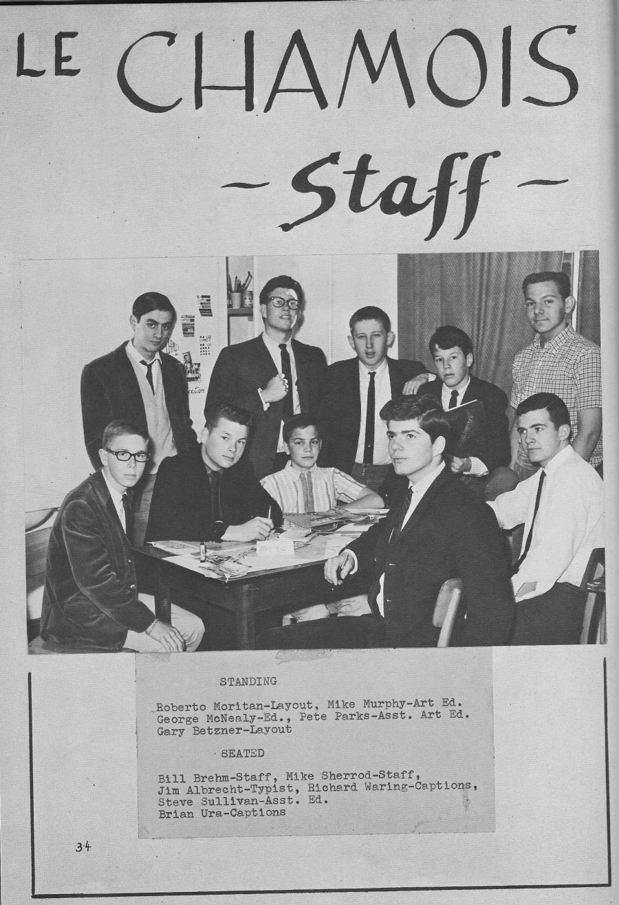 Le Chamois Staff for  Villa Saint Jean International School  1964 Yearbook Le Chamois