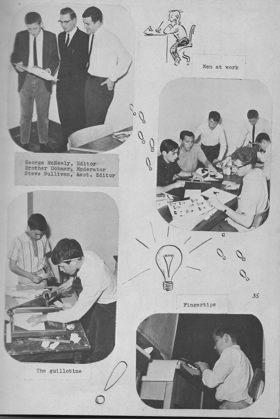 Le Chamois Staff 2 for for Villa Saint Jean International School  1964 Yearbook Le Chamois