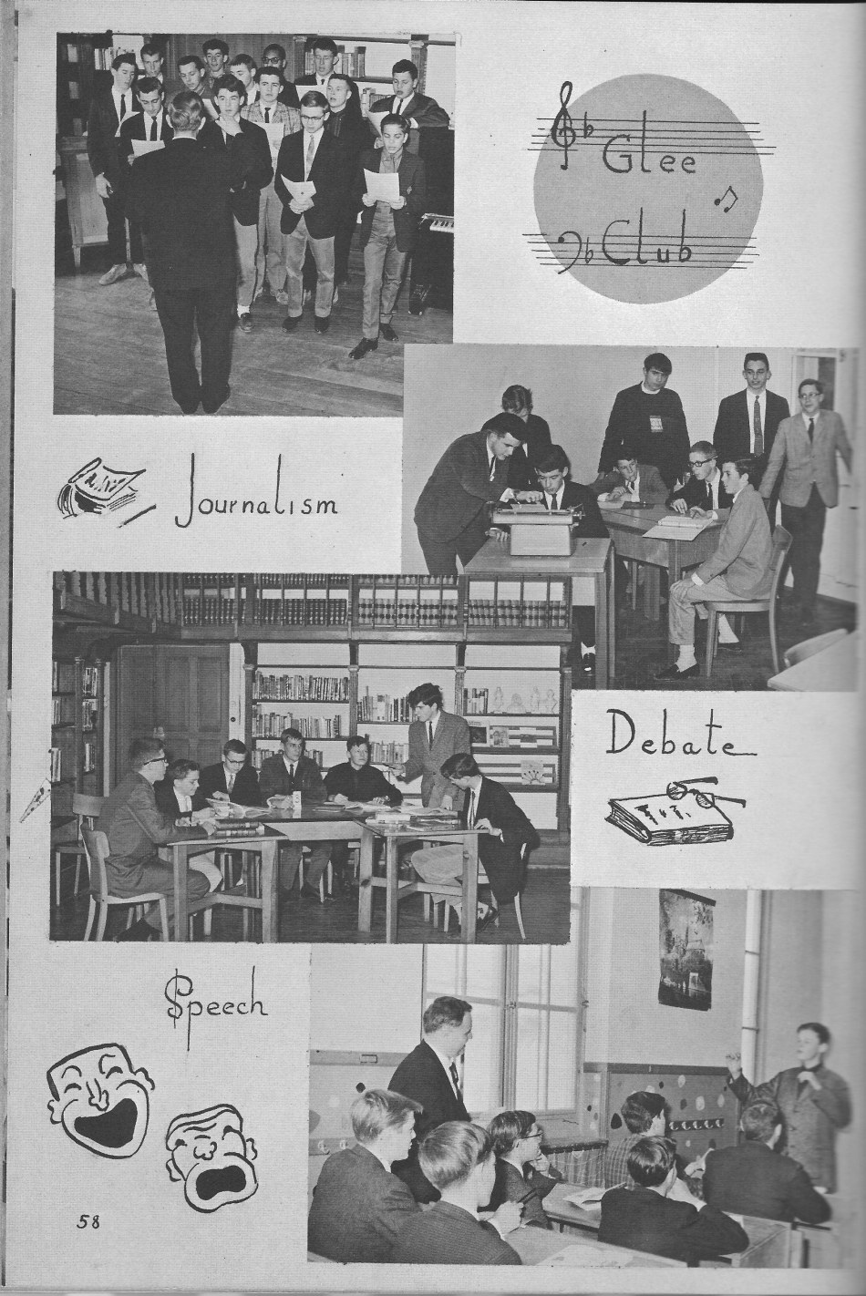 Glee Debate Speech Clubs  for  Villa Saint Jean International School  1964 Yearbook Le Chamois