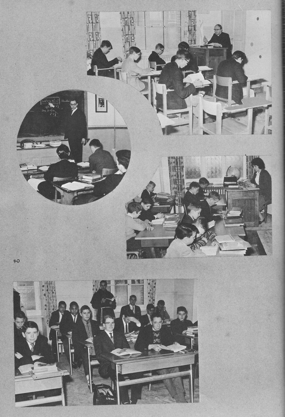 Classroom Photos  2 for Villa Saint Jean International School  1964 Yearbook Le Chamois