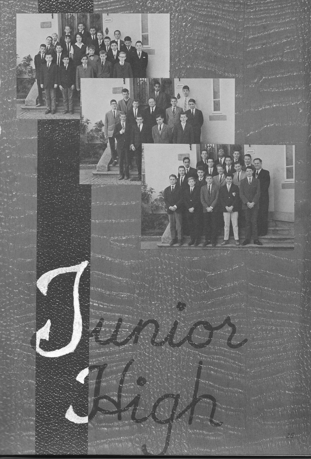 JUNIOR HIGH Group Photo for Villa Saint Jean International School  1964 Yearbook Le Chamois