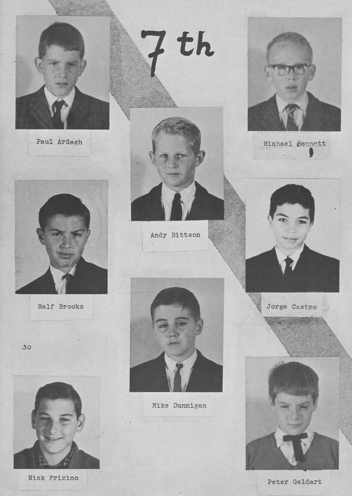 7th Grade Individual Photos 2 for for Villa Saint Jean International School  1964 Yearbook Le Chamois