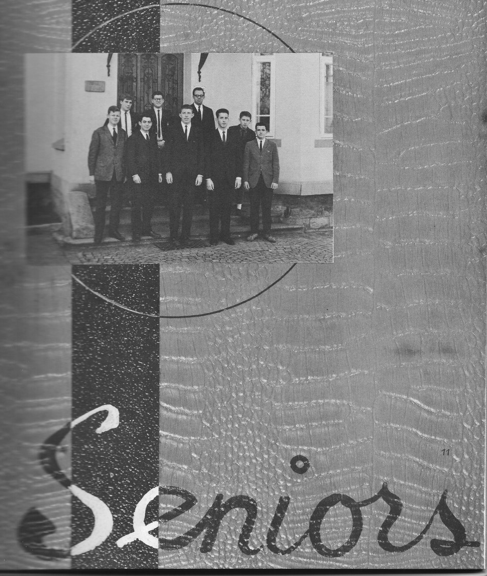 SENIORS Group Photo for Villa Saint Jean International School  1964 Yearbook Le Chamois