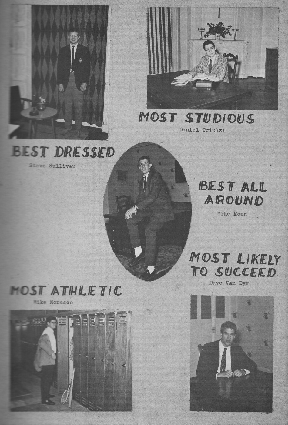 SENIORS Individual Photos 4 for for Villa Saint Jean International School  1964 Yearbook Le Chamois