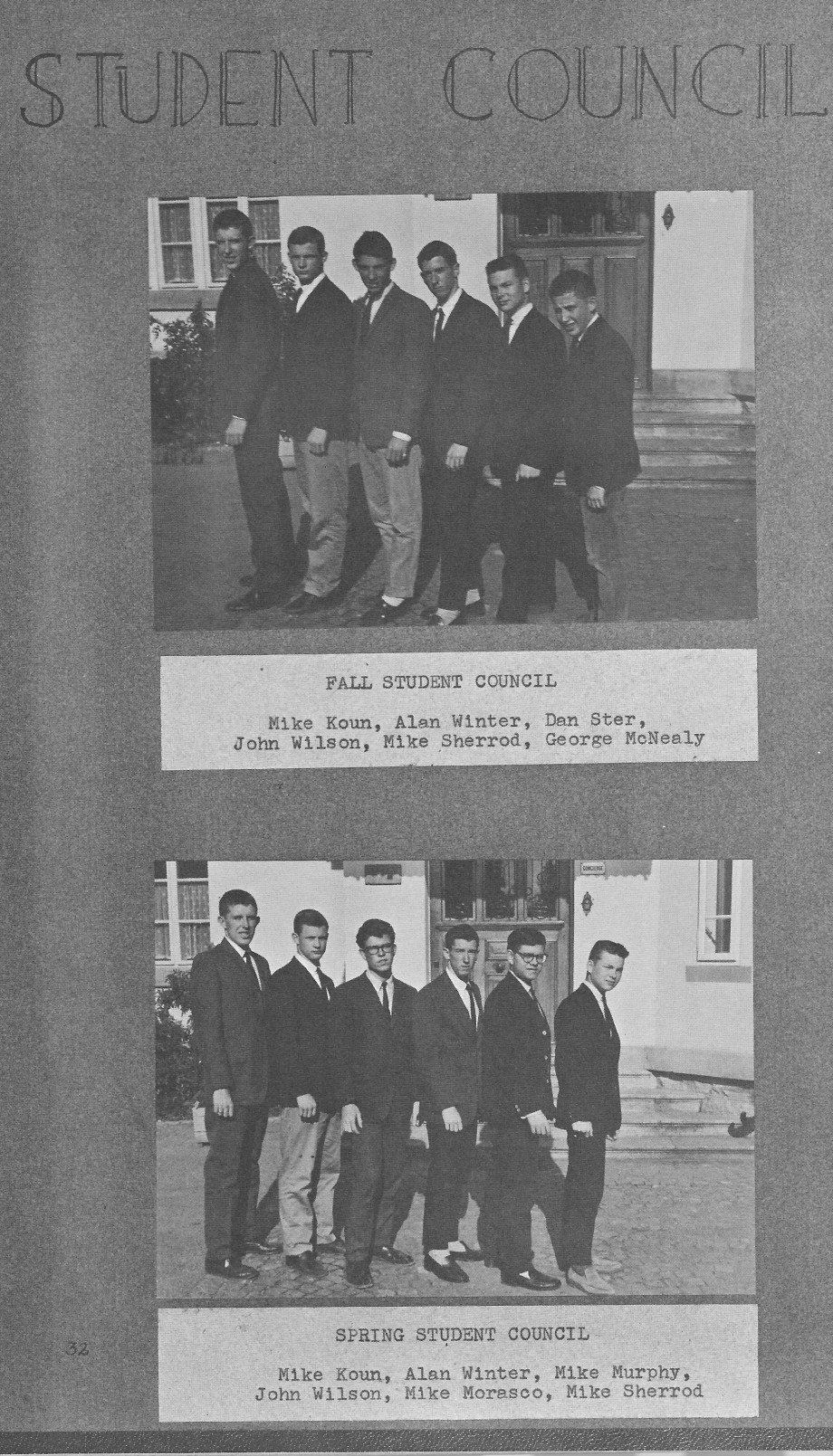 Student Council Photos 1 for  Villa Saint Jean International School  1964 Yearbook Le Chamois