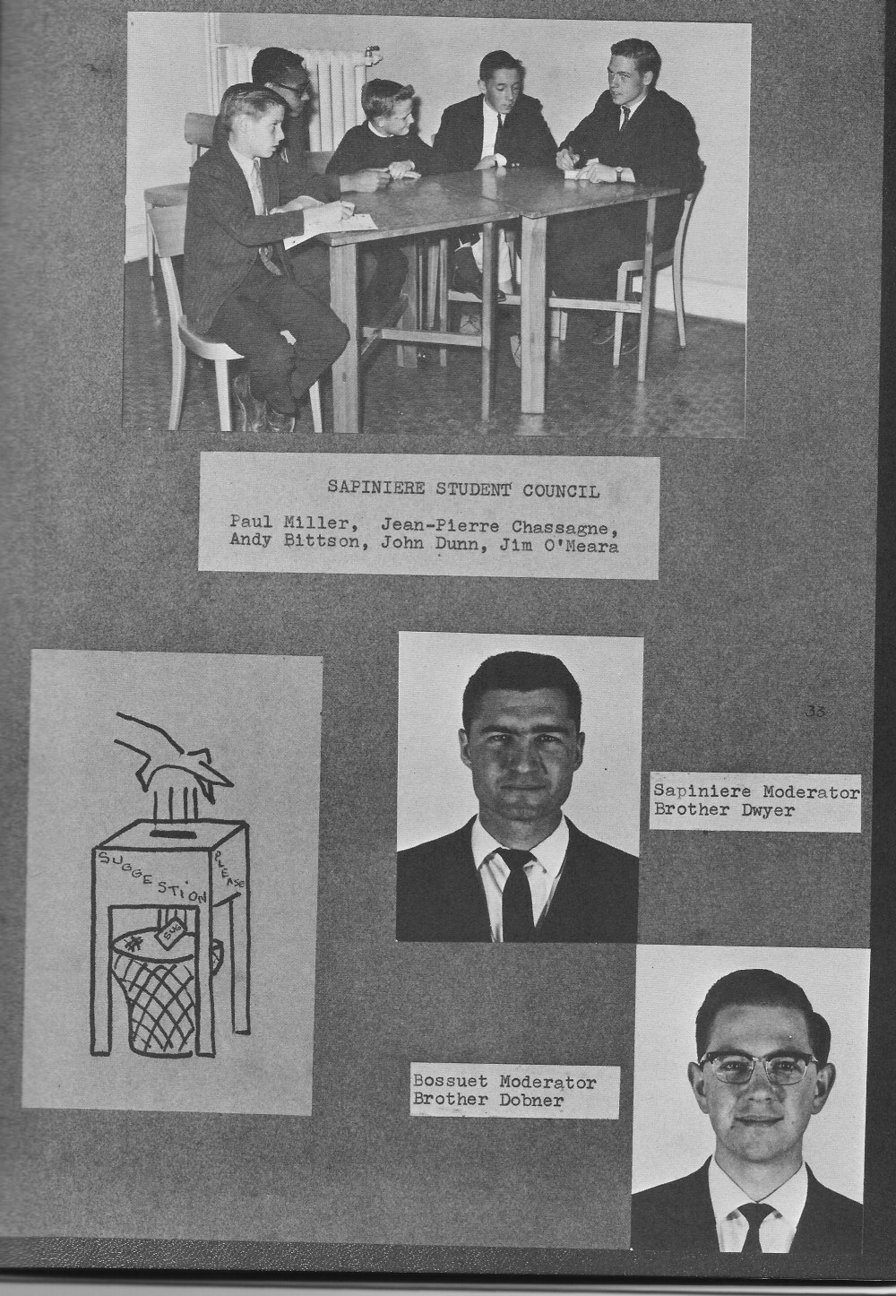 Student Council Photos  2 for for Villa Saint Jean International School  1964 Yearbook Le Chamois