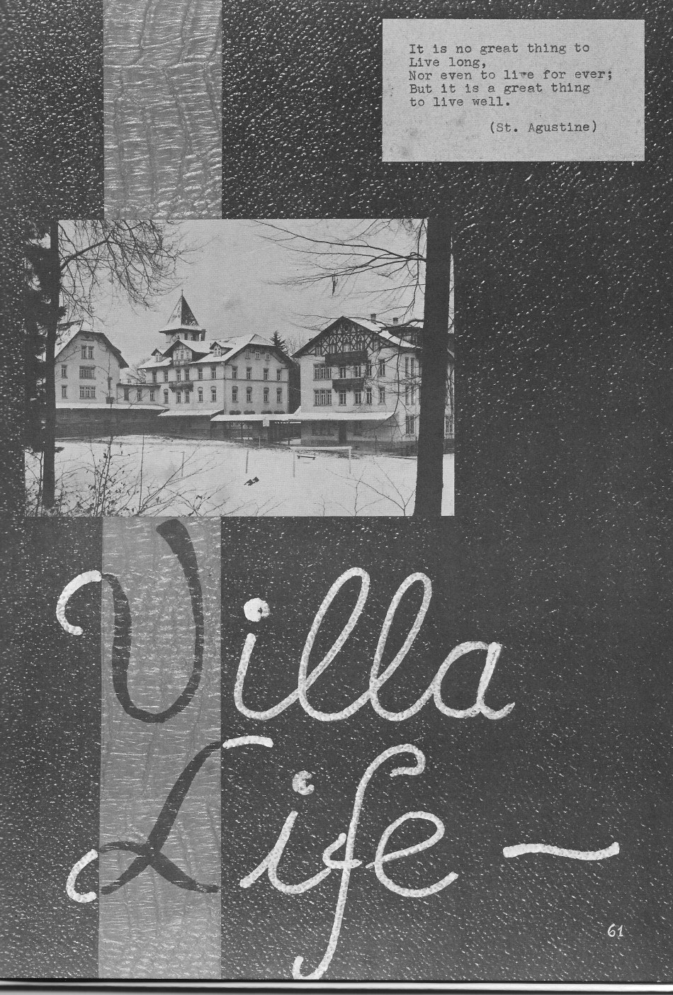 VILLA LIFE for  Villa Saint Jean International School  1964 Yearbook Le Chamois
