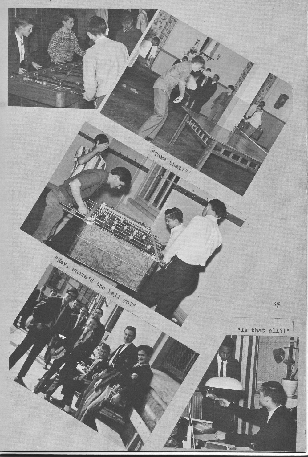 VILLA LIFE 7  for Villa Saint Jean International School  1964 Yearbook Le Chamois