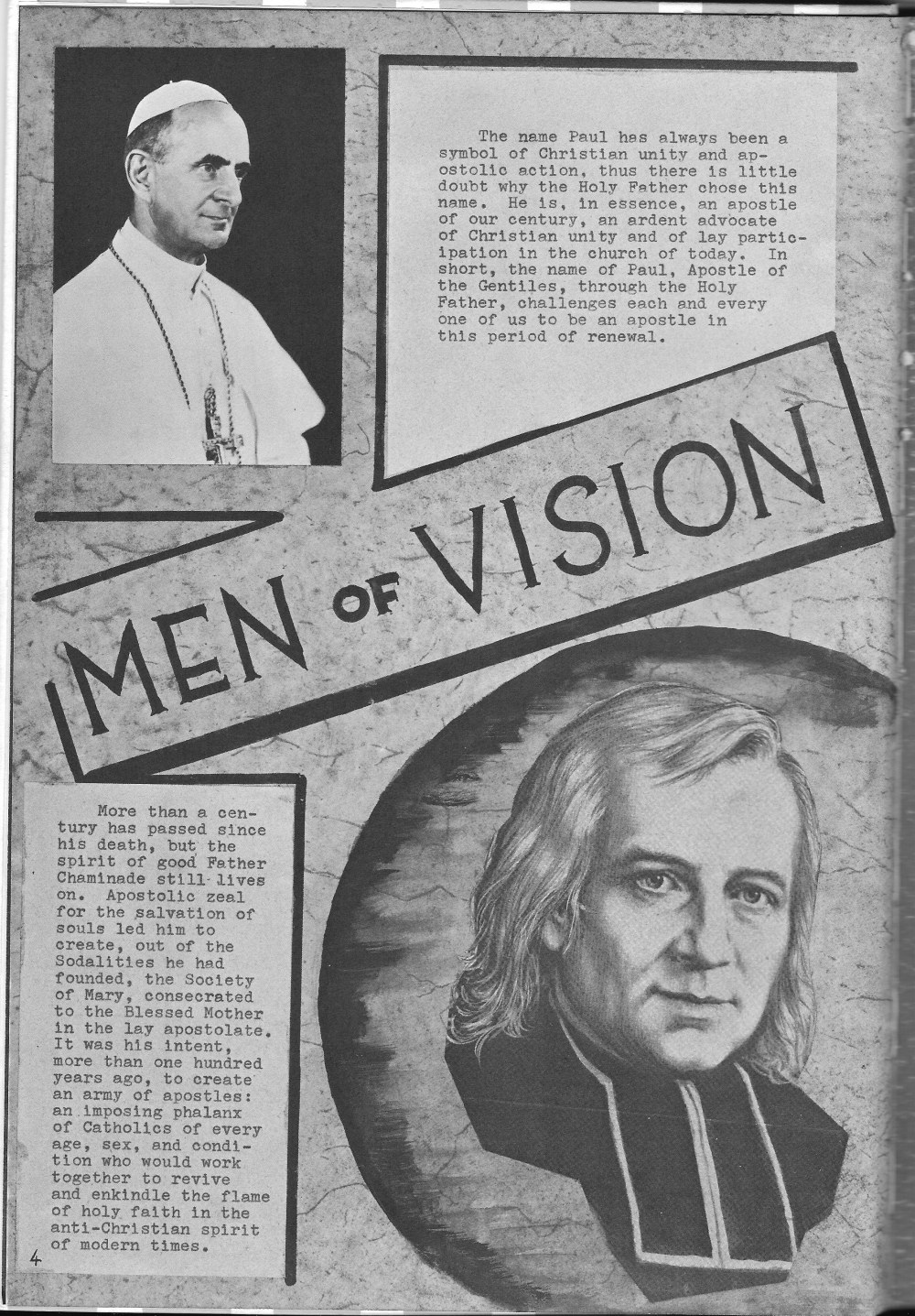 Men of Vision Dedication for  Villa Saint Jean International School  1964 Yearbook Le Chamois