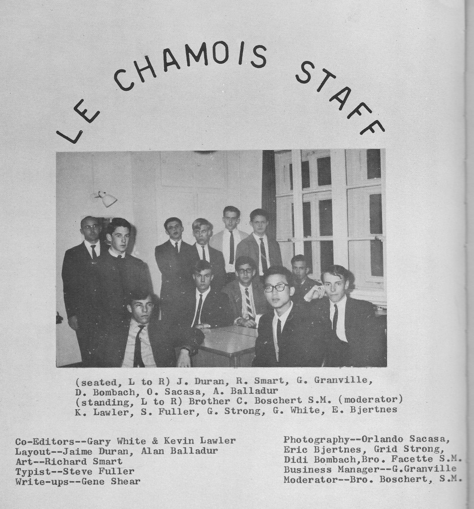 Le Chamois Staff 1  for Villa Saint Jean International School  1965 Yearbook Le Chamois