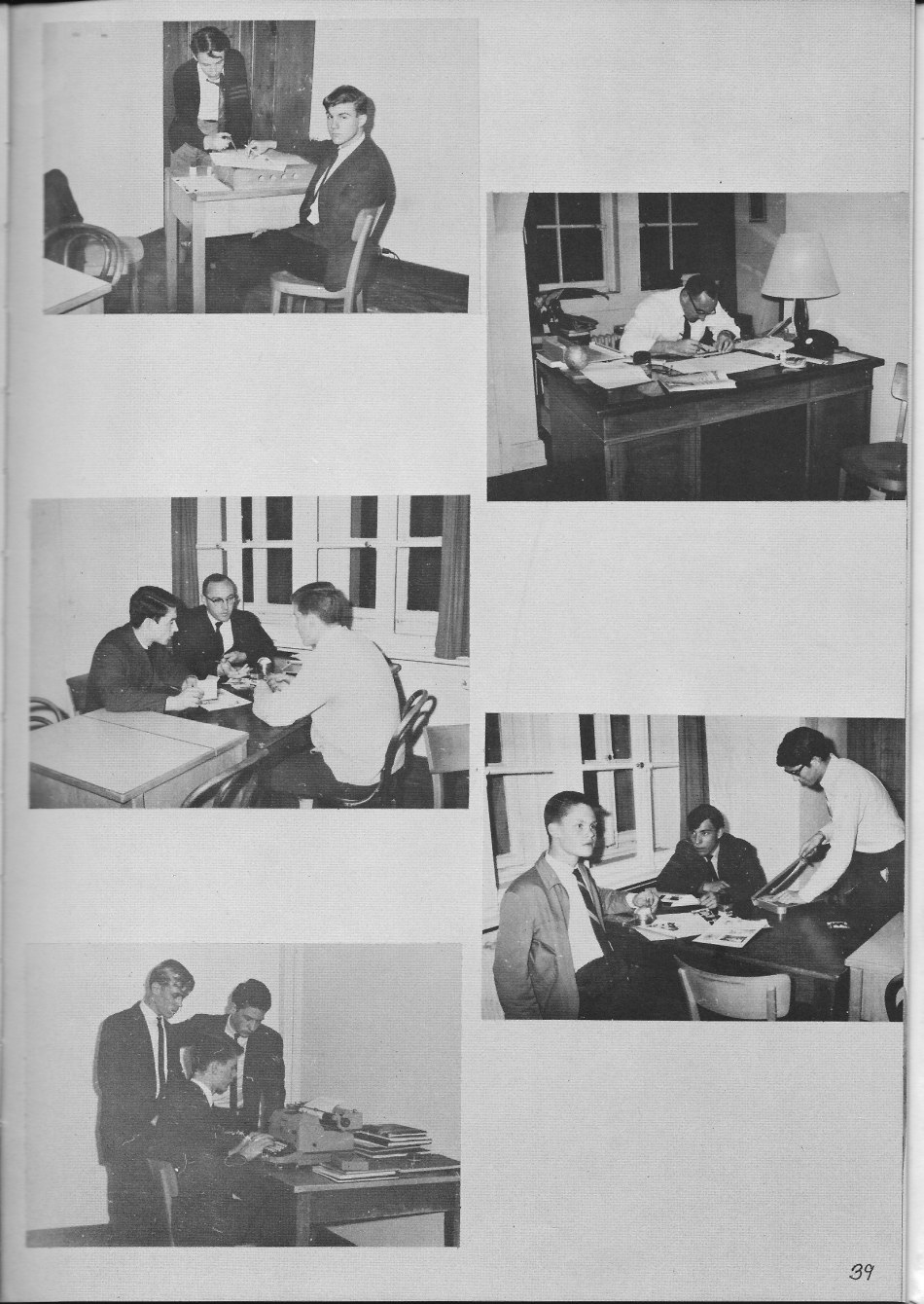 Le Chamois Staff 2  for Villa Saint Jean International School  1965 Yearbook Le Chamois
