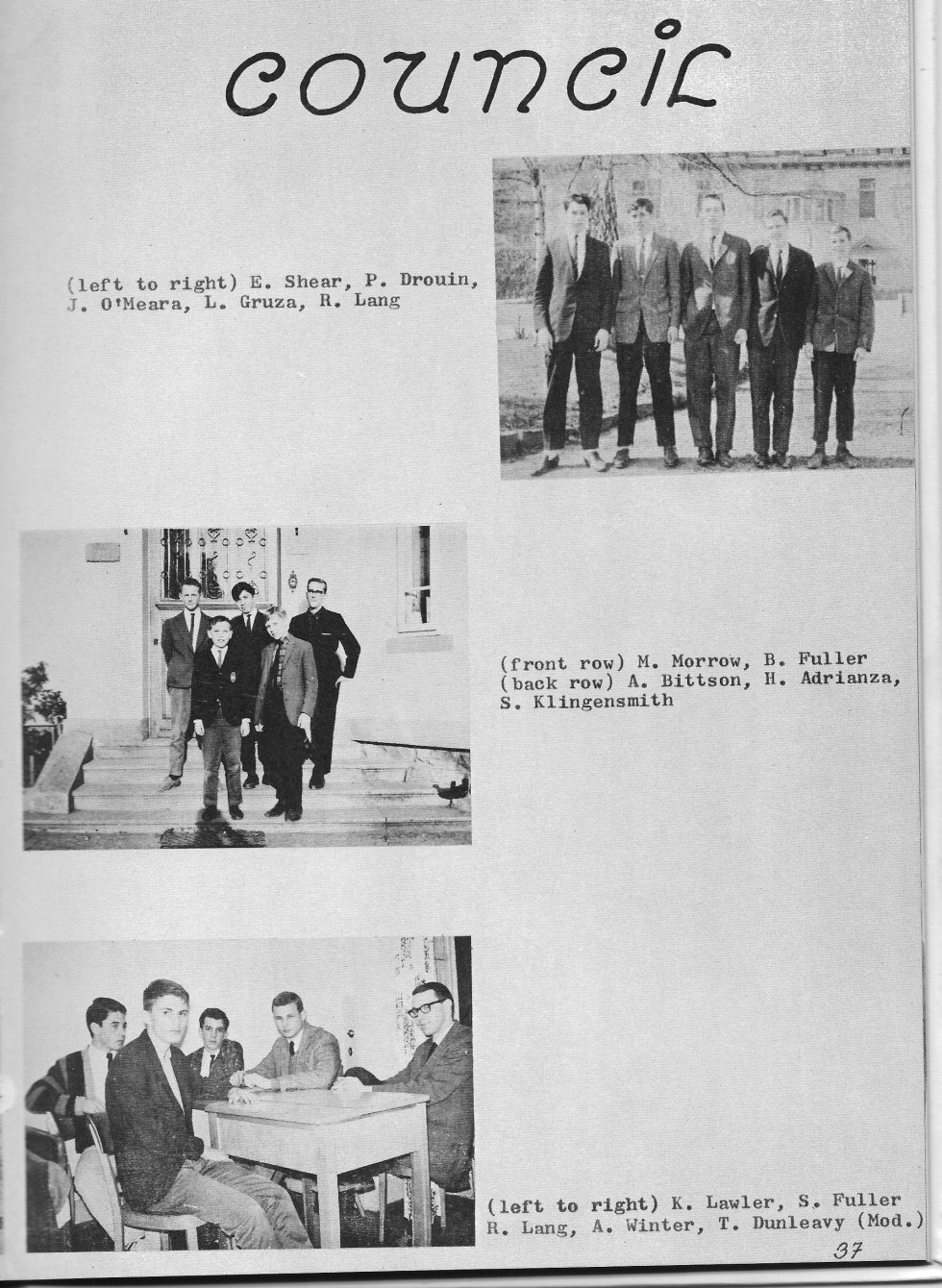 Student Council  PHOTOs 2  for Villa Saint Jean International School  1965 Yearbook Le Chamois