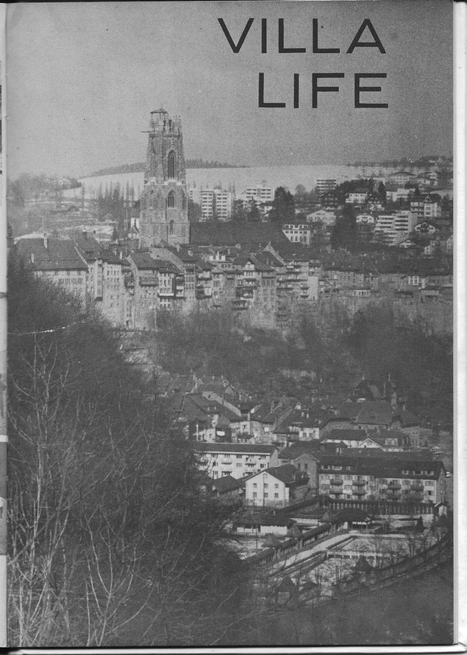 VILLA LIFE  COVER  Page for  Villa Saint Jean International School  1965 Yearbook Le Chamois