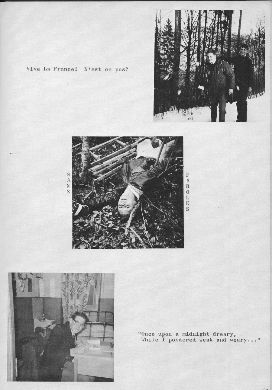 Villa Life Photos 5  for Villa Saint Jean International School  1965 Yearbook Le Chamois
