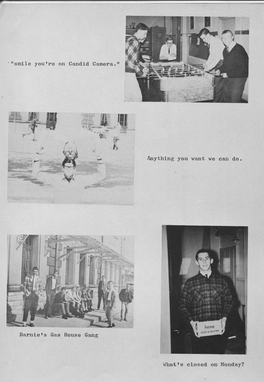 Villa Life Photos 7  for Villa Saint Jean International School  1965 Yearbook Le Chamois