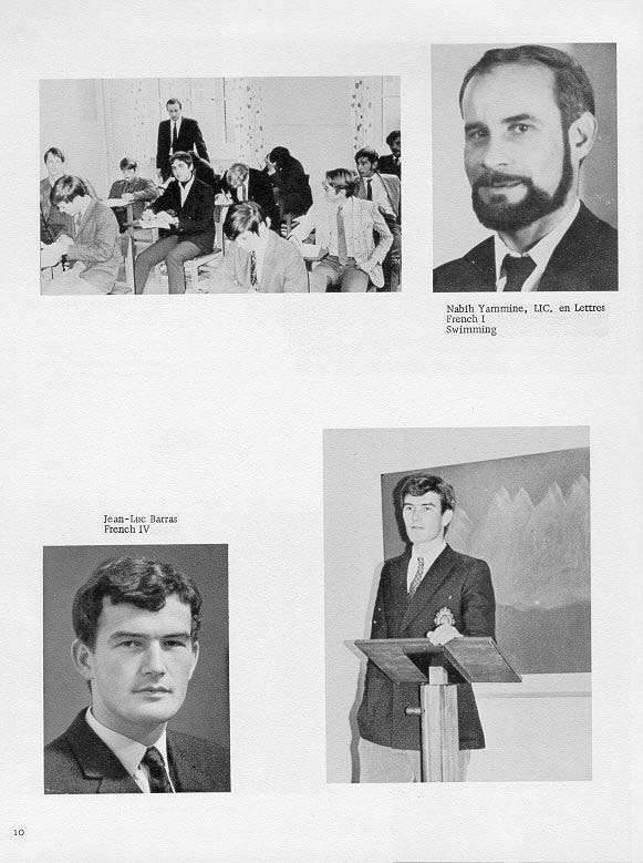 TOC  for  Villa Saint Jean International School  1970 Yearbook Le Chamois Faculty p10