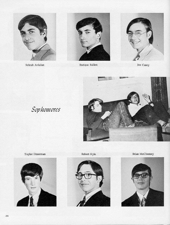 TOC  for  Villa Saint Jean International School  1970 Yearbook Le Chamois Sophomores p26