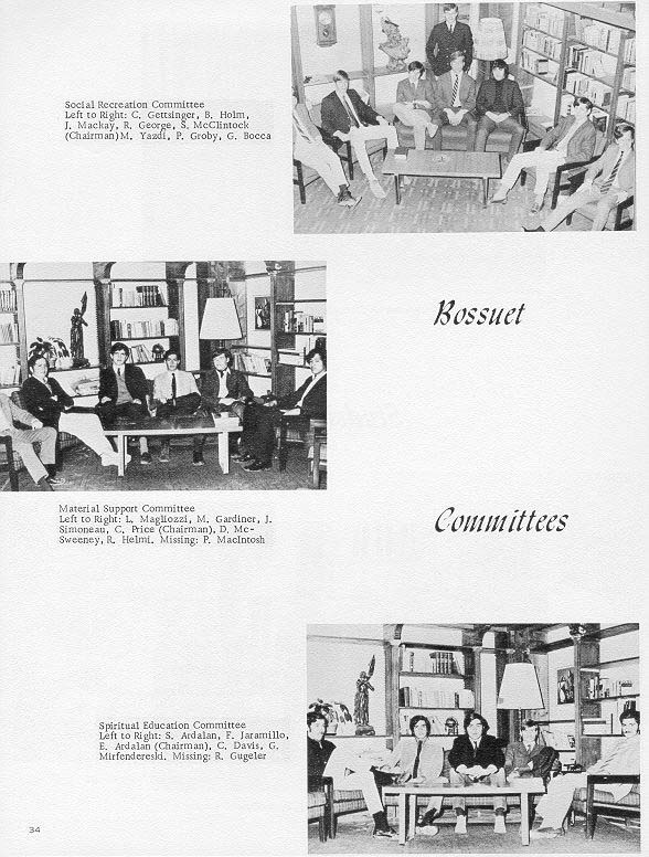 TOC  for  Villa Saint Jean International School  1970 Yearbook Le Chamois Organizations  p34