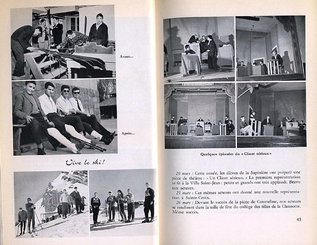 College Villa Saint-Jean 1959 -1960 Yearbook pages 42-43