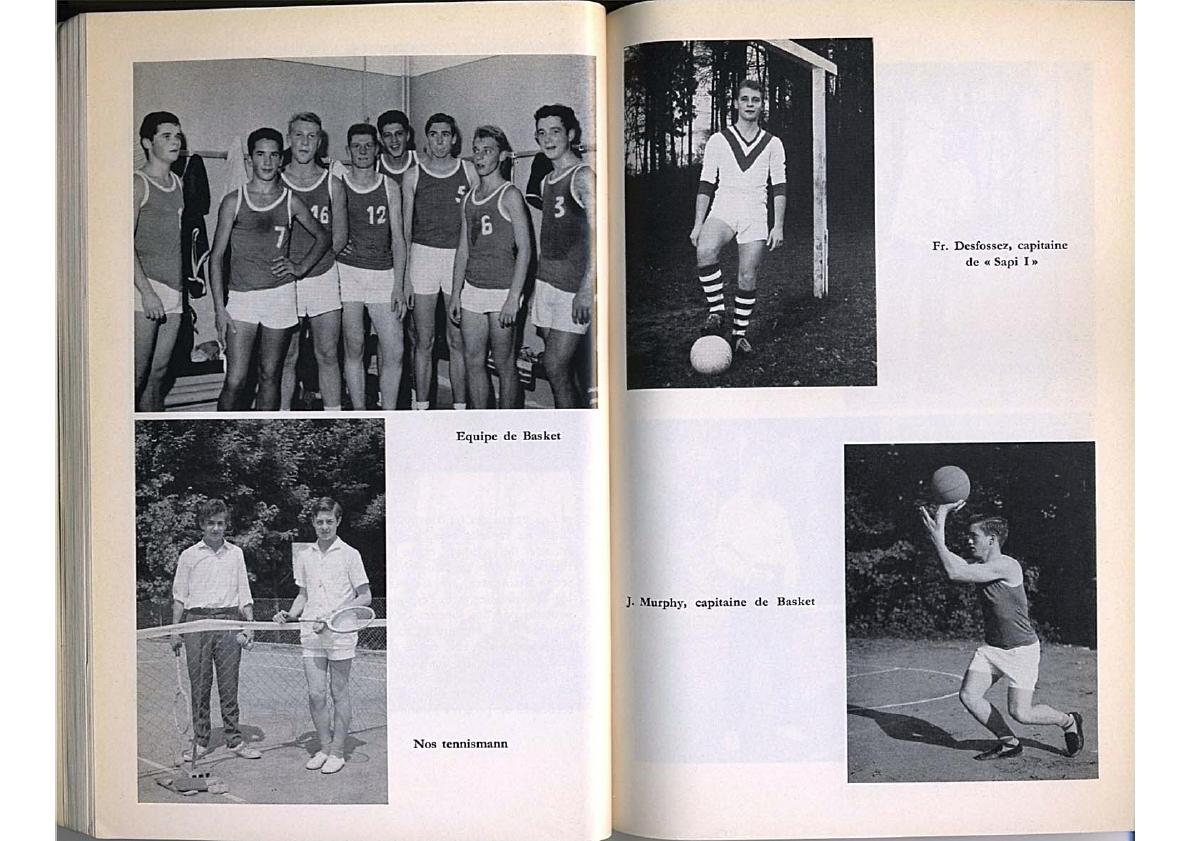 College Villa Saint-Jean 1959 -1960 Yearbook pages from SPORTS section