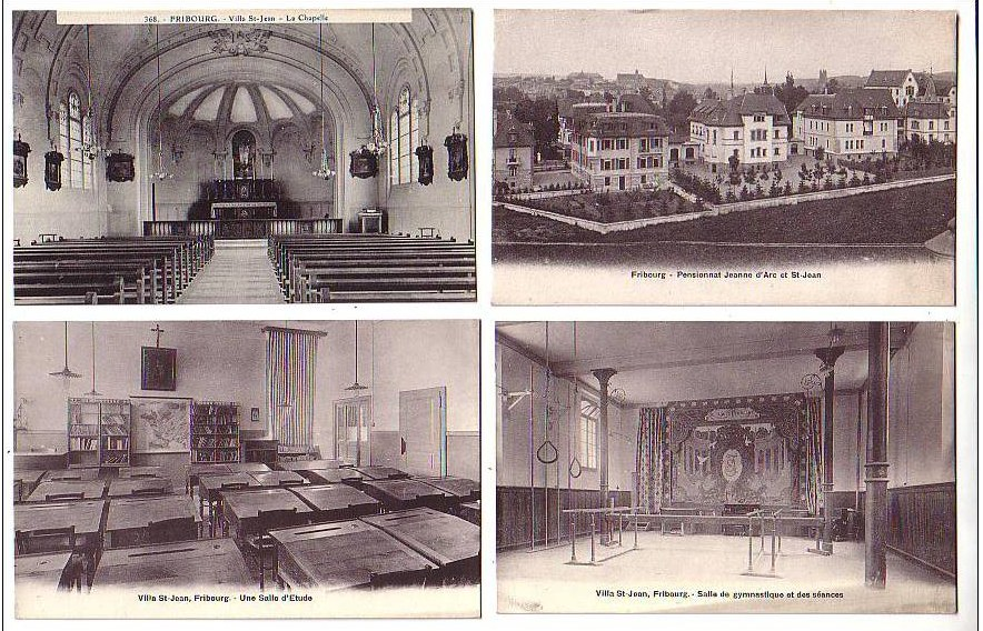 PHOTO Historical Postcard with 4 photos of Villa Saint Jean College 1