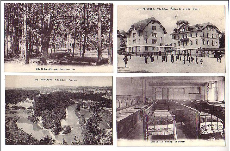 PHOTO Historical Postcard with 4 photos of Villa Saint Jean College 2