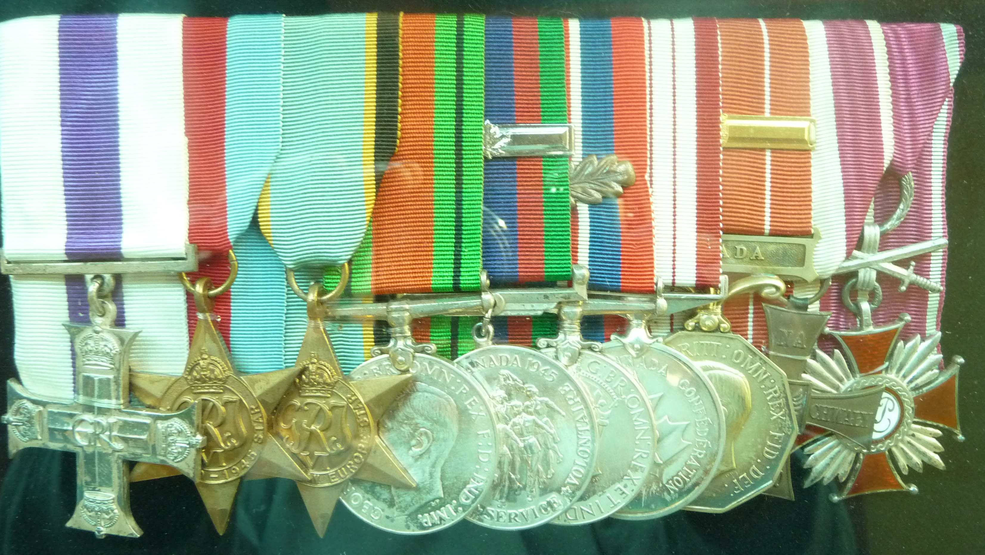 Military Medals Awarded to Hubert Brooks