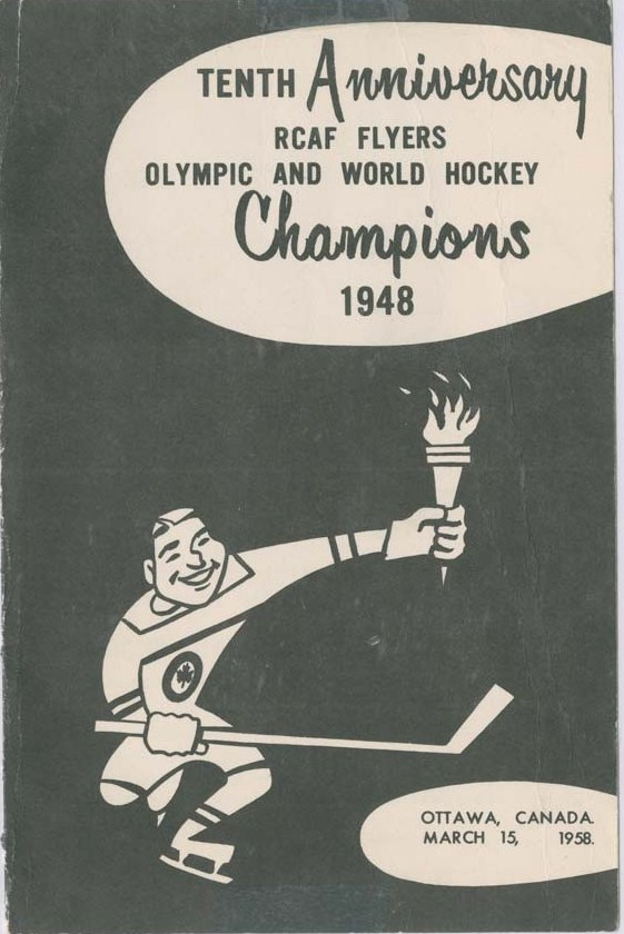 Image: 10th ANNIVERSARY 1958 R.C.A.F. FLYERS Commemerative Cartoon