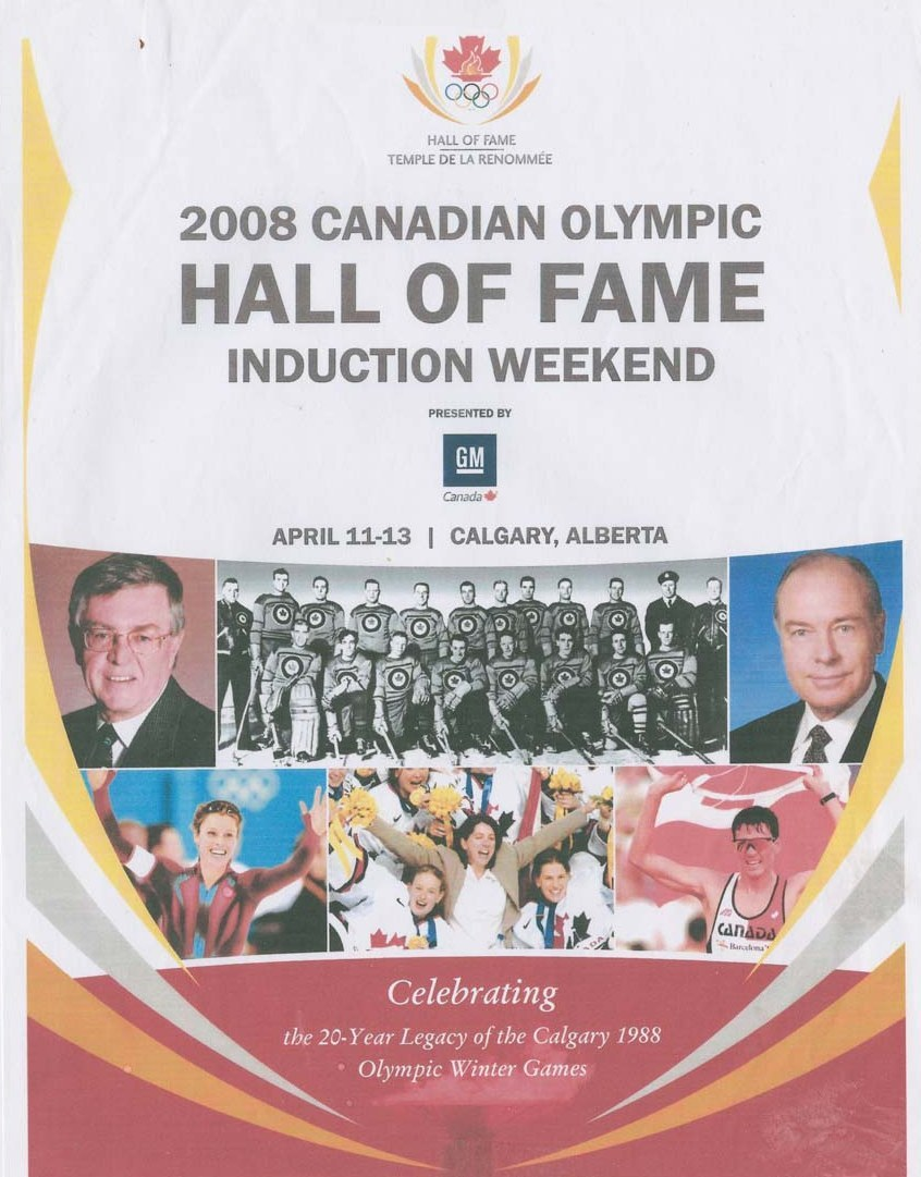 Photo: RCAF Flyers  Induction into the (2008) Canadian Olympic Hall of Fame P