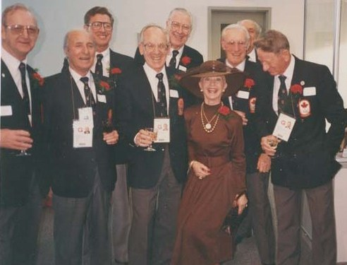 Photo: RCAF Flyers  Induction into the (2008) Canadian Olympic Hall of Fame with Barbara Ann