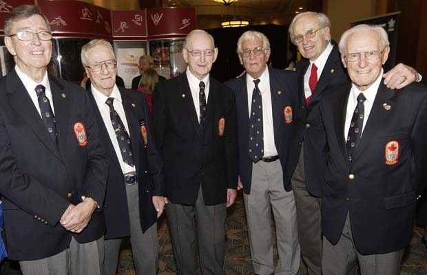 Photo: RCAF Flyers  Induction into the (2008) Canadian Olympic Hall of Fame