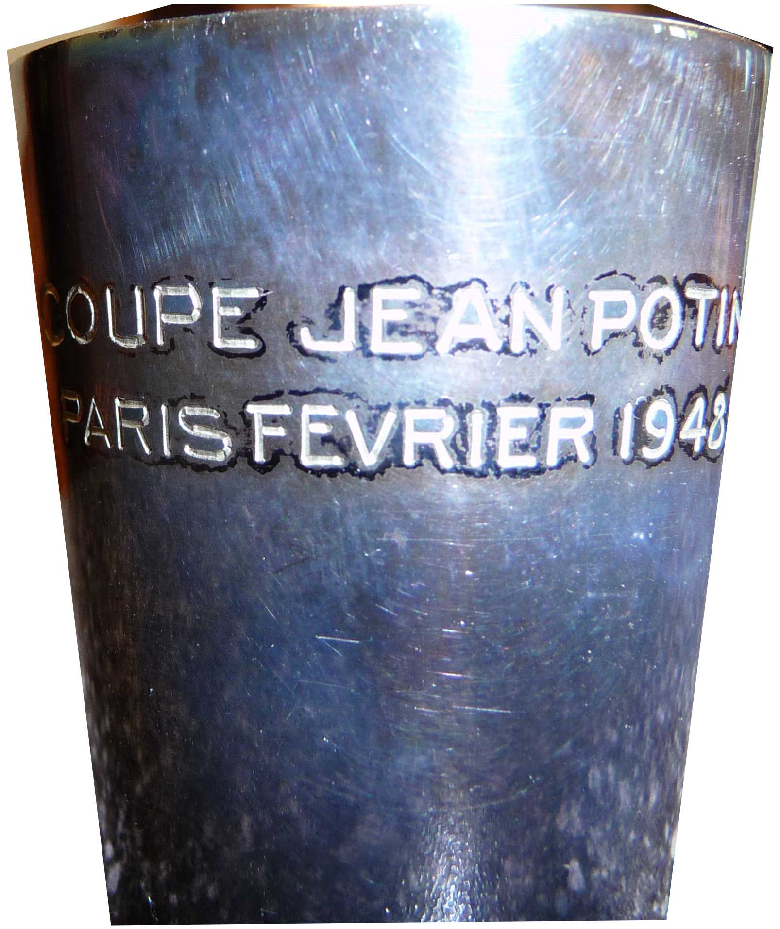 Photo: Shot Glass souvenir of Coupe Jean Potvin the Flyers won in Paris