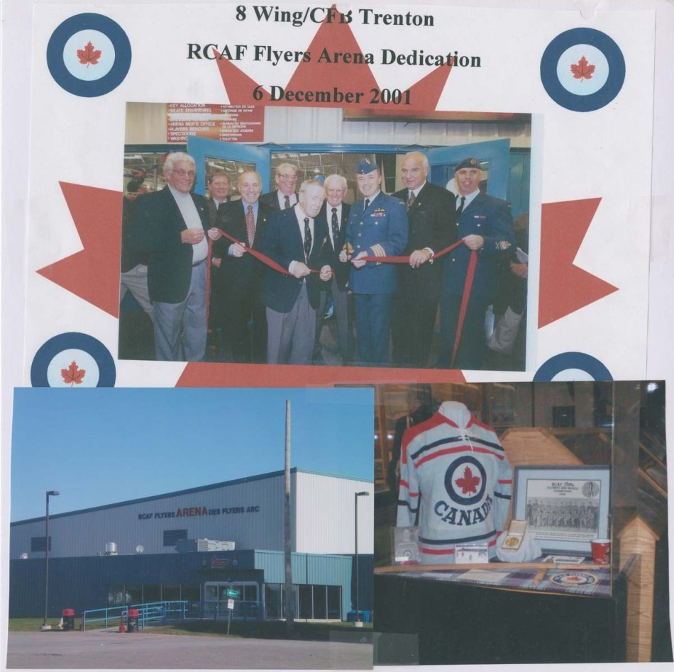 Photo: RCAF Flyers  Arena Dedication at CFB Trenton
