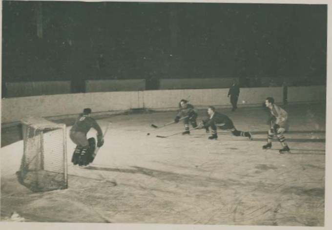 Photo: Post Olympic Game RCAF Flyers vs Bohemia at Prague Czechoslovakia